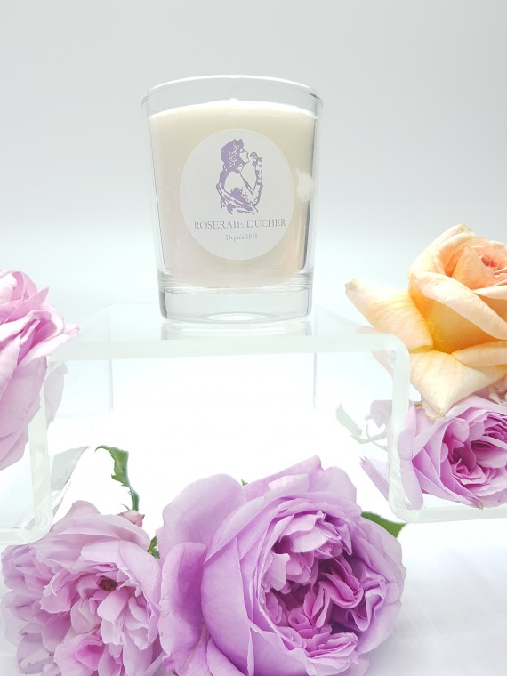 Vegetable wax candle scented with rose