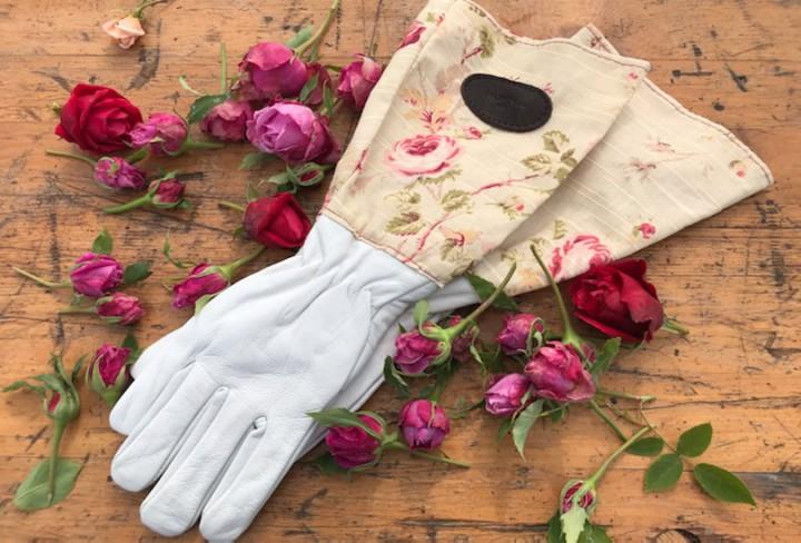 Gants de jardinage - modèle tissus floral