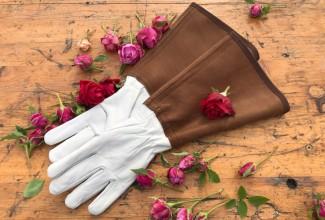Gardening  gloves - floral linen